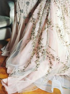 {Tulle and sequins.}