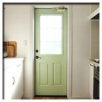 かわいい勝手口 勝手口 室内ドア 輸入住宅