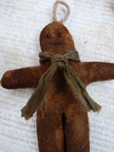 Prim Gingerbread man Christmas