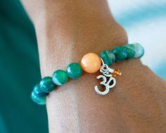 String+of+Luck+Bead+Bracelet++Gemstone+Agate+Single+by+LycheeGrove,+$26.00