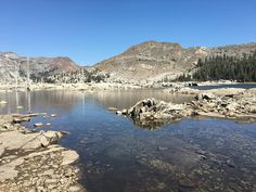 Lake Aloha, Desolation Wilderness, South Lake Tahoe area  Camping night one in the Wilderness!