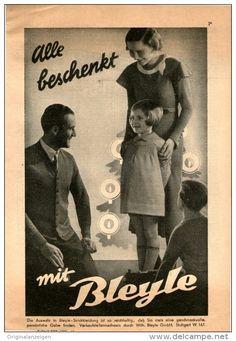 Original-Werbung/Inserat/ Anzeige 1933 - 1/1-SEITE : BLEYLE - STRICKKLEIDUNG / MODE - ca.150 X 220 mm