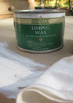 Briwax is one of the brands that makes liming wax. Really all it is - is a paste wax that has a white tint to it. You can rub it into the grain of the wood and make it as translucent or opaque as you feel