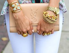 #YSL bag, beautiful outfit #fashion