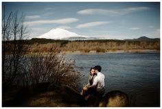 Trout Lake engagement photos near Mt. Adams