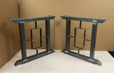 Design Modern Table Legs 2 Bars With Square/Rectangle In The