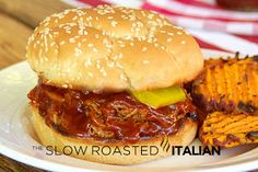 The Slow Roasted Italian - Printable Recipes: The Best Ever Simple Crockpot Pulled Pork Sandwiches
