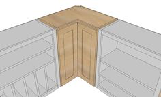 Ana White   Build a Wall Corner Pie Cut Kitchen Cabinet   Free and Easy DIY Project and Furniture Plans