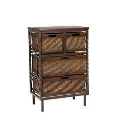 Safavieh Walsham 4-drawer Dark Walnut Storage Shelf rom Overstock. Would be perfect in our master bath. I could set my curling iron on top