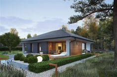 Style At Home, 3d House Plans, Facade House, Home Fashion, Home Projects, Bungalow, Gazebo, Architecture Design, Country Homes