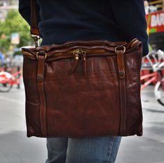 Campomaggi unisex briefcase - Brussosa Briefcase, Messenger Bag, Satchel, Unisex, Travel, Fashion, Accessories, Satchel Purse, Moda