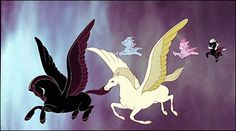 "fantasia disney the pastoral symphony | The Pegasus scene in ""The Pastoral Symphony"" segment"