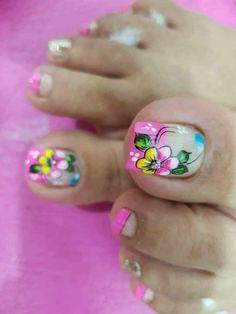 Toe Nail Art, Cute Acrylic Nails, New Nail Art Design, Feet Nails, Toe Nail Designs, Hello Everyone, Lily, Pedicures, Divas