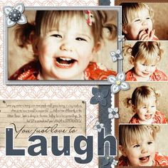 You'll Just Love to Laugh Digital Scrapbook Layout Project Idea from Creative Memories    www.creativememor...