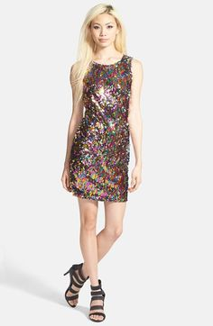Leith Multicolored Sequins Dress at Nordstrom.com. Multicolored sequins bedeck a sleeveless shift dress to create a shimmering rainbow effect.