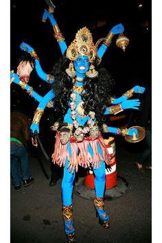 Heidi Klum as Hindu god Kali - The 33 Best Celebrity Halloween Costumes