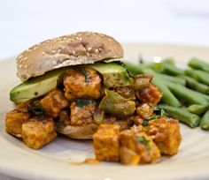 BBQ Tempeh with Avocado