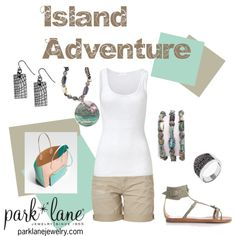 """Island Adventure"" by parklanejewelry on Polyvore"