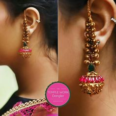gold jewelry design and price Gold Jhumka Earrings, Gold Earrings Designs, Indian Earrings, Necklace Designs, Gold Designs, Gemstone Earrings, Antique Jewellery Designs, Gold Jewellery Design, Gold Jewelry