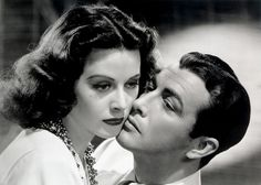Robert Taylor and Hedy Lamarr