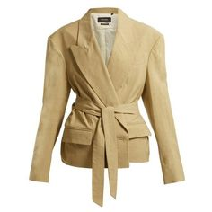 Isabel Marant Riller peak-lapel linen-blend jacket (41.900 RUB) ❤ liked on Polyvore featuring outerwear, jackets, khaki, structure jacket, peak lapel jacket, isabel marant jacket, single breasted jacket and beige jacket