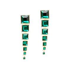Emerald drops | earrings