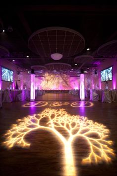 Wedding Lighting Decor Enchanted Forest Theme tree