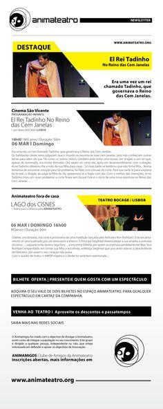 EL REI TADINHO, o distraído, NO REINO DAS CEM JANELAS, vem ao Auditório Cinema São Vicente este Domingo, vem conhecê-lo!