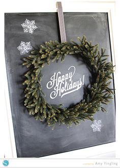 Happy Holidays Chalkboard Art - Silhouette Blog