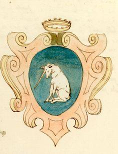 «Arme de' principi di Este ; Arme de' Carraresi signori di Padova», Italy, 16. sec. (1501-1599) [Biblioteca estense Ms. gamma.r.2.28].-- Coat-of-arms of Foresto family (f°3v).