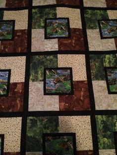 Nothing says outdoorsman like a nature-inspired beaver quilt! Dee made this quilt for her husband using her APQS Millennium longarm machine and a Take 5 pattern. Fabulous work, Dee!