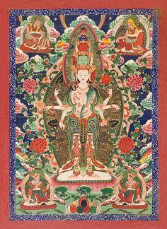 Chenrezig, The Bodhisattva of Compassion. http://www.skylightpublishing.com/tibet/tangka5a_web.jpg