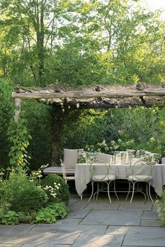 The pergola kits are the easiest and quickest way to build a garden pergola. There are lots of do it yourself pergola kits available to you so that anyone could Outdoor Rooms, Outdoor Dining, Outdoor Gardens, Outdoor Decor, Rustic Outdoor, Outdoor Sheds, Patio Dining, Dining Table, Patio Kitchen