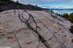 Steinzeichnungen in Alta, Norwegen ... Norway petroglyphs ... More : http://de.wikipedia.org/wiki/Alta_Museum