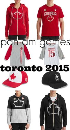 Pan Am Games Clothing collection for the Pan American Games held in Toronto Maple Leafs, Red, Black and White feature prominently in the clothing. All About Canada, American Games, Pan Am, Vancouver Island, Gta, Ontario, Toronto, Vacation, Black And White