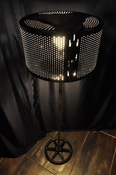Micmacs floor lamp  Upcycled washing machine drum lamp