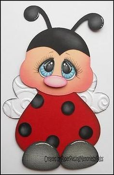 Premade Lady Bug Paper Piecing for Scrapbook Pages by Babs | eBay