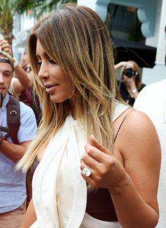 Kim kardashian...look at that ring