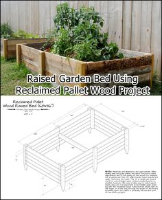 "Raised Garden Bed Using Reclaimed Pallet Wood Project Homesteading  - The Homestead Survival .Com     ""Please Share This Pin"""