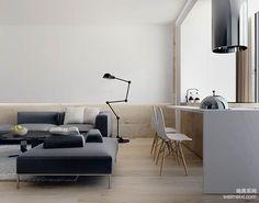 基辅Lipki极简主义风格公寓室内装修设计