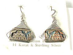 NOS Storyteller Wire Earrings E531 Vintage Earrings, Vintage Jewelry, Wire Earrings, Drop Earrings, Native American Earrings, American Indian Jewelry, Native American Indians, Vintage Shops, Storytelling