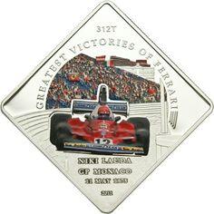 1 Dollar CuNi Ferrari - Die größten Erfolge: Niki Lauda PL