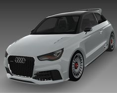 Audi A1 Clubsport Quattro 3Ds - 3D Model