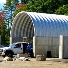Large Salt Storage Building With An Open Front And Covered Rear Wall | Salt  Storage Covers U0026 Covers With Bin Blocks | Pinterest | Storage Buildings, ...
