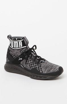 Puma IGNITE evoKNIT Black and Gray Shoes at PacSun.com fe57740f78