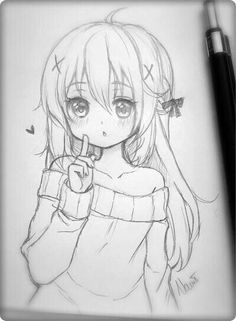 Drawing Sketch Anime Girl - Pin On Manga And Anime How To Draw Anime Girl Hair Slow Narrated Tutorial No Timelapse Pin Em Anime Art Inspiration How To Draw Anime Girl Face Slow N. Manga Girl Drawing, Anime Drawings Sketches, Anime Sketch, Kawaii Drawings, Cartoon Drawings, Manga Art, Cute Drawings, Kawaii Girl Drawing, Drawings Of Girls