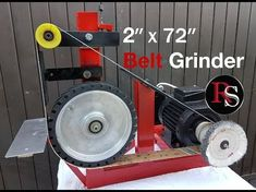 """DIY - Making A 2x72"""" / Belt Grinder with buffing wheel - YouTube"""
