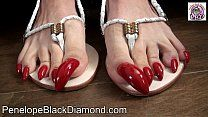 Red Toenails, Long Toenails, Toe Nails, Dildo, Beautiful Toes, Porno, Sexy Feet, Black Diamond, Gladiator Sandals