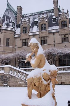 Biltmore House in snow