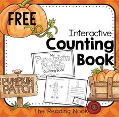 Free Pumpkin Patch Counting Book - a great interactive book for your preschool, pre-k, early intervention, kindergarten and homeschool classes!